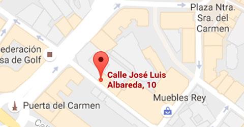 Mapa despacho en calle Jose Luis Albareda - Zaragoza